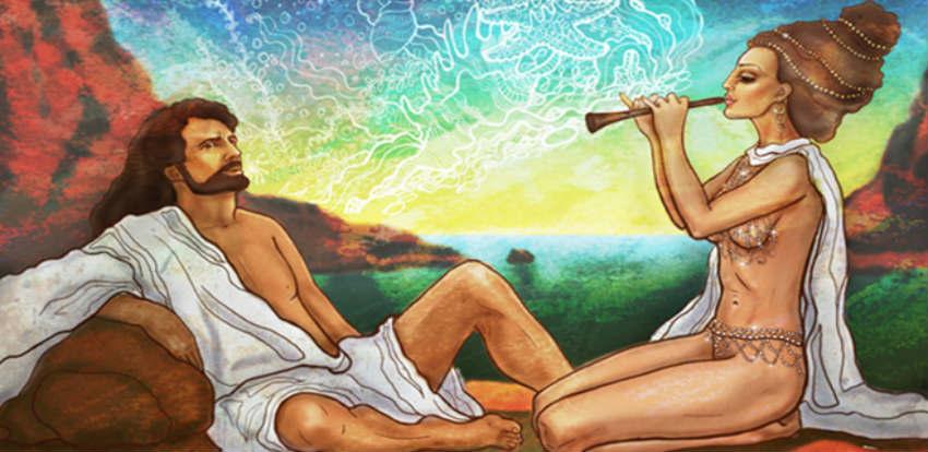 одиссей на острове калипсо картинки выпила